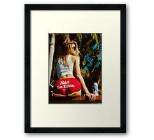WHITE HOT AMERICA Framed Print