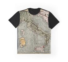 Map Of Italy 1540 Graphic T-Shirt