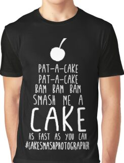 Pat-A-Cake Smash Photographer Graphic T-Shirt