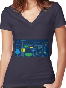 Chemical Band Women's Fitted V-Neck T-Shirt