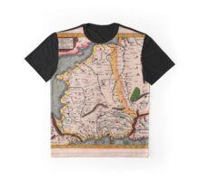 Map Of Belgium 1695 Graphic T-Shirt