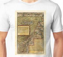 Map Of The Holy Land 1544 Unisex T-Shirt