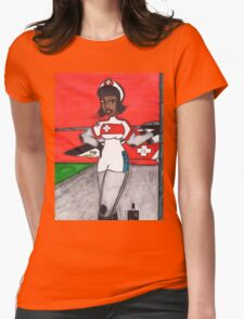 Waiting on the Pilots Womens Fitted T-Shirt