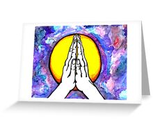 Peaceful Hands- Colorful Mixed Media Art Greeting Card
