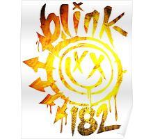 Blink 182 Yellow Fire Poster