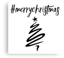 #MerryChristmas Canvas Print