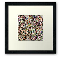 Sugar Skull Collage Framed Print