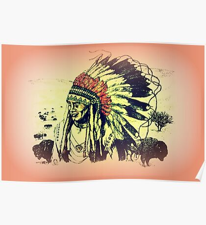 American Indian Chief Poster
