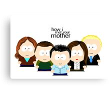 How I Met Your Mother CARTOON Canvas Print