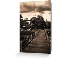 As the clouds roll in........ Greeting Card