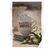 Tea Cups Still Life  Poster