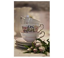 Tea Cups Still Life  Photographic Print