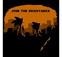 Join the resistance-sonic 2017 Photographic Print