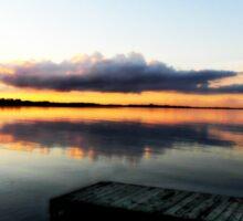 Sunset Lake Sticker