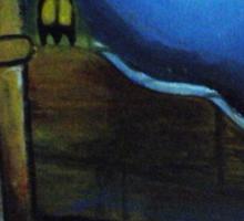 Village House compound Moon Light- Bharat Sticker