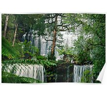 Russel Falls in Mount Field National Park. Poster