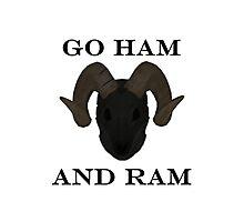 GO HAM AND RAM Photographic Print