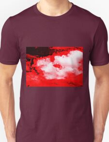 WHITE & BLACK CLOUDS - RED SKY Unisex T-Shirt