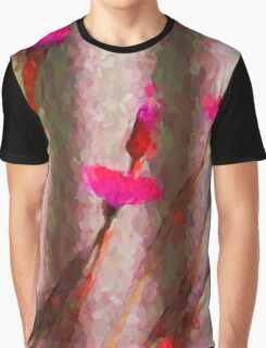 My Surreal Hot Pink Dandelions Graphic T-Shirt