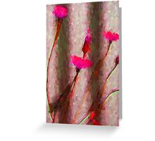 My Surreal Hot Pink Dandelions Greeting Card