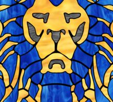 Stained Glass Lion Sticker