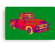 Classic 1955 F100 Ford Pickup Truck Pop Art Canvas Print