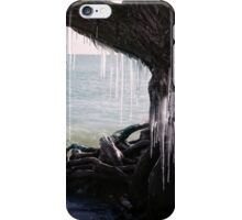 icicles hang from a tree on a beach iPhone Case/Skin
