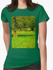Riding Around the Park Womens Fitted T-Shirt