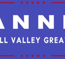 TANNEN: Make Hill Valley Great Again! Sticker