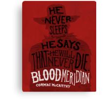 Blood Meridian Art Print Canvas Print