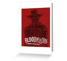 Blood Meridian Art Print Greeting Card