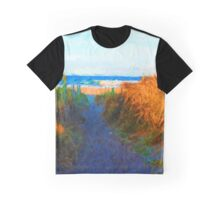 Beach View from the Middle of the Path Graphic T-Shirt
