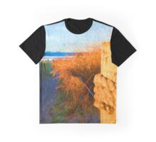 Beach View from the Right of the Path Graphic T-Shirt