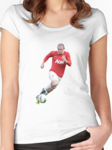 wayne rooney red devil Women's Fitted Scoop T-Shirt
