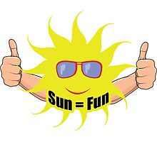 Sun Equals Fun Photographic Print
