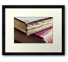Antique books Framed Print