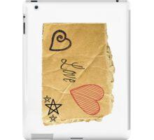 Torn Paper Love iPad Case/Skin