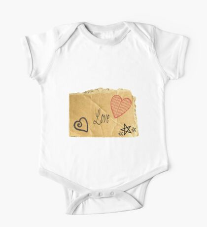 Torn Paper Love One Piece - Short Sleeve