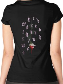 blood pink Women's Fitted Scoop T-Shirt