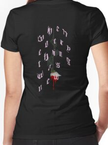 blood pink Women's Fitted V-Neck T-Shirt