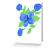 Bubbling Blues Greeting Card