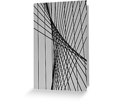 Support Cables Greeting Card