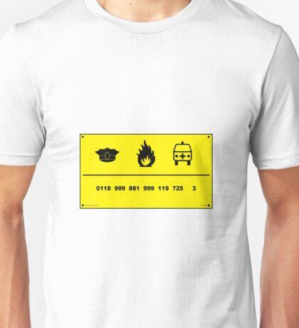 0118 999 881 999 725 3 Unisex T-Shirt
