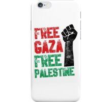 Free Gaza Free Palestine iPhone Case/Skin