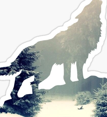 Wolf in the Forest Sticker