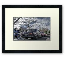 Datsun + Mazda Framed Print