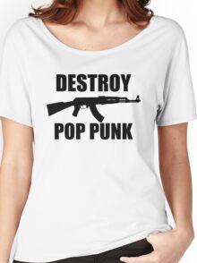 Destroy Pop Punk (Black) Women's Relaxed Fit T-Shirt