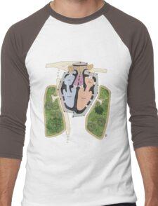 Archi heart / heartchitect Men's Baseball ¾ T-Shirt