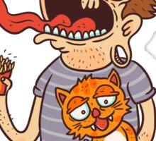 Cat Dude Sticker