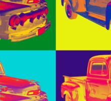 Colorful 1951 Ford F-1 Pickup Truck Pop Art  Sticker